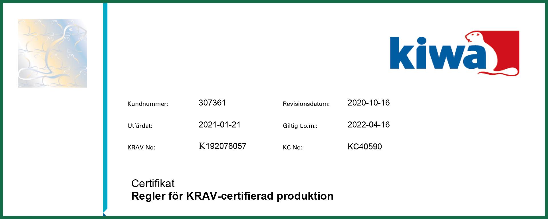 KRAV_certifikat_Emarker